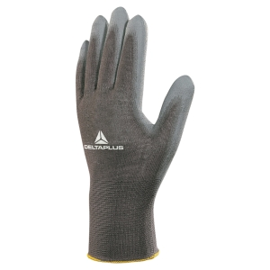 PAIR PU COATED GLOVES BLACK/GREY S9
