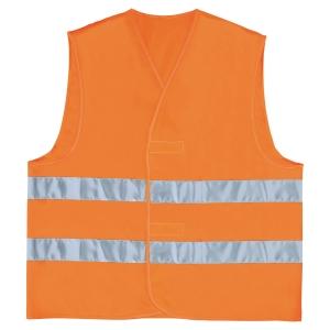 Sikkerhedsvest Deltaplus Parallel, orange, str. L