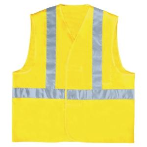 Gilet haute visibilité Deltaplus GILP4 bandes baudrier jaune fluo taille L