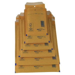 Pack de 100 envelopes bolha Arofol 215x150mm kraft