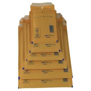 Pack de 100 envelopes bolha Arofol 340x240mm kraft