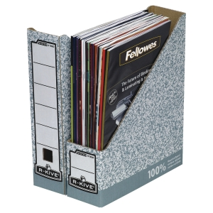 FELLOWES BANKERS BOX MAGAZINE FILES GREY H311 X W78 X D258MM