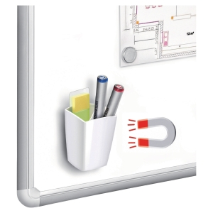 Cep White Magnetic Pencil Cup For Whiteboard