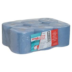 Papierputztücher Wypall 7493 Wischtuchrolle, 18,5 x 38 cm (BxL), blau, 6 Rollen