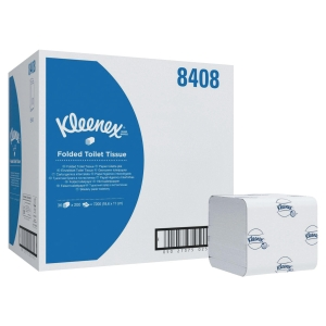 CARTON DE 36 PAQUETS DE 200 FEUILLES KLEENEX 8408 2 PLI BLANC