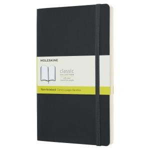 Carnet Moleskine - 13 x 21 cm - couverture souple - 192 pages unies - noir