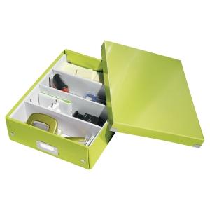 LEITZ CLICK & STORE BOX MEDIUM A4 GREEN