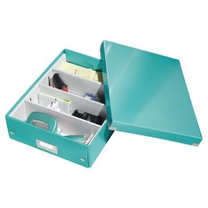 LEITZ CLICK & STORE BOX MEDIUM A4 ICEBLU
