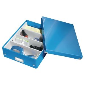 Leitz 6058 Click & Store box for A4 blue