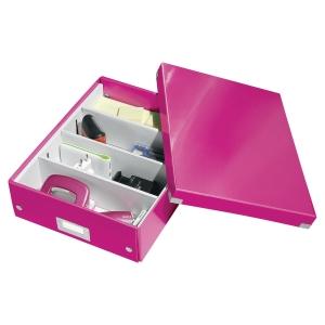 Leitz 6058 Click & Store opbergdoos voor A4 roze