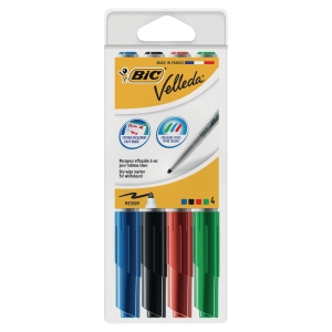 Bic 1741 Whiteboard marker 1,4 mm assorti - etui van 4