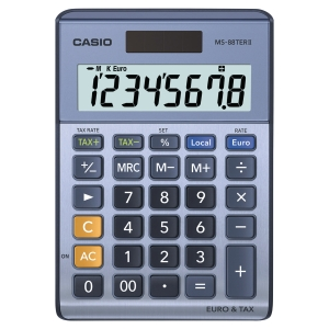 CALCULATRICE DE BUREAU CASIO MS-88TER II 8 CHIFFRES