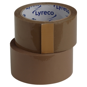 LYRECO PP PACKAGING BROWN TAPE 50MM X 66M - PACK OF 6