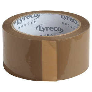 LYRECO BUDGET PP BROWN PACKING TAPE 50MM X 66M - PACK OF 6