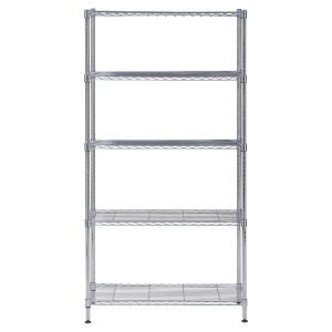 ALBA CHROME STEEL SHELVING 5SHELV MEDIUM