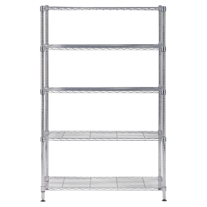 ALBA CHROME STEEL SHELVING 5 SHELV LARGE