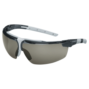 Uvex I-3 safety spectacles - black/light grey - clear lens