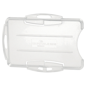PK10 DURABLE8919DUAL SECURITY PASS HOLDER TRANSPARENT