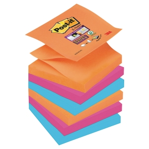 Pack 6 Blocos notas adesivas Post-it Super Sticky Z-notes Bangkok 76x76mm