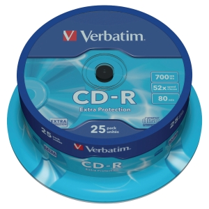 Verbatim CD-R spindle 80mn 700MB - pak van 25