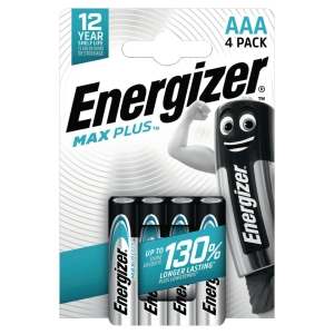 Energizer Max Plus alkaline batteries AAA - pack of 4