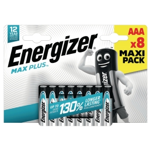 Energizer Max Plus alkaline batteries AAA - pack of 8
