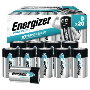 Pack 20 piles Energizer alcaline advanced d/lr20