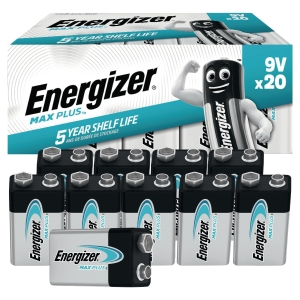 BATTERIER ENERGIZER ECO ALKALINE ADVANCED 9V/6LR61 PAKKE Á 20 STK