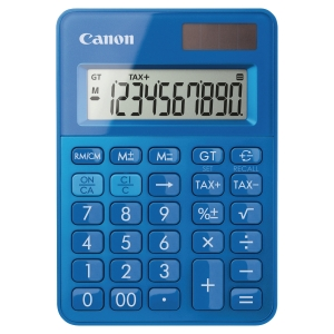 Canon LS-100K pocket calculator -10 numbers -blue