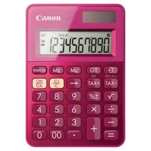 Calculadora de bolso CANON LS-100K de 10 dígitos cor rosa