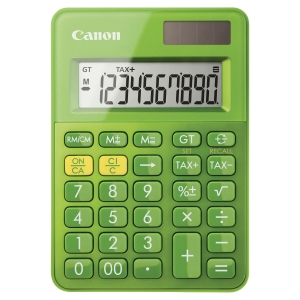 Canon LS-100K pocket calculator -10 numbers -green