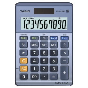 Calculadora de mesa CASIO MS-100TERII de 10 dígitos
