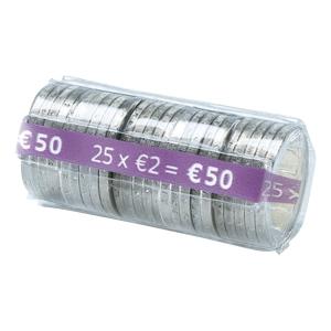 Münzrollen Safetool FA62263, 2 EURO, 100 Stück