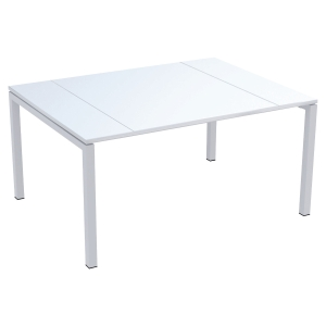 TABLE DE REUNION 6 PERSONNES EASYDESK BY PAPERFLOW COLORIS BLANC 150X114