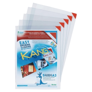Tarifold Kang herkleefbare hanghoezen, transparant, A3, pak van 2