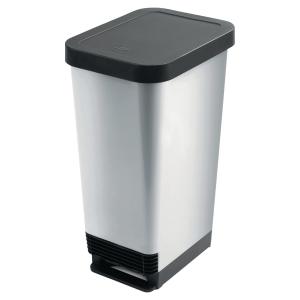 Abfalleimer geruchsdicht CEP, Fassungsvermögen 45 l, grau