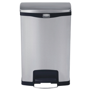 Papelera con pedal frontal RUBBERMAID SlimJim® Step On acero inoxidable 50l