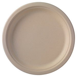 Assiette en bagasse Duni ecoecho - compostable - 26 cm - naturel - paquet de 50