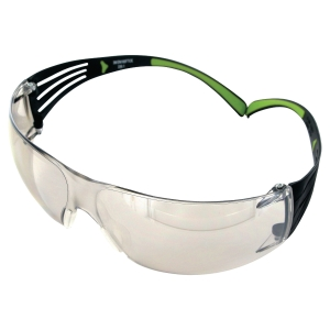 Schutzbrille 3M SF410 SecureFit, Filtertyp 5, schwarz/grün, Scheibe out-/indoor