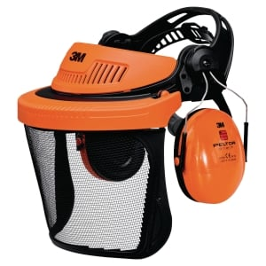 CASQUE ANTI BRUIT 3M G500 AVEC VISIERE GRILLAGEE V5C ORANGE