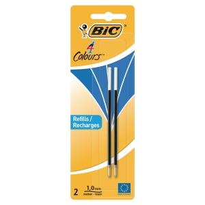 Vulling voor Bic® 4-kleuren balpen en baliepen, medium, blauw, per 2 navullingen