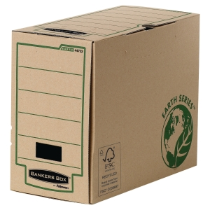 Archivschachtel Bankers Box Earth Serie, B150xT350xH260 mm, braun, Pk. à 20 Stk.