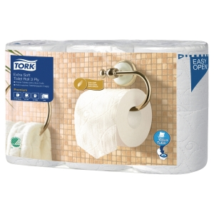 Toiletpapir Tork Premium Extra Soft pakke a 6 ruller