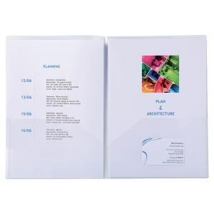 PAQUET DE 10 POCHETTES DE PRESENTATION POLYPROPYLENE DOUBLE POCHE A4/A3 INCOLORE