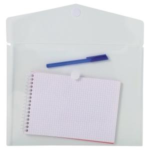 Pack 5 sobres A4 polipropileno cierre textil transparente EXACOMPTA