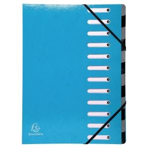 Sorteringsmappe Exacompta Iderama, 12-delt, blå