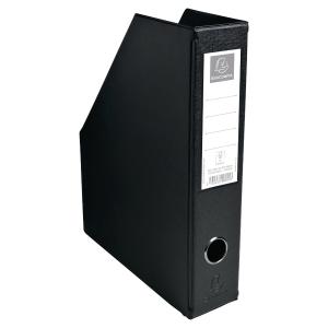 PORTE-REVUES PP PLIABLE FORMAT A4 PVC 20/10EME EXACOMPTA 7CM NOIR