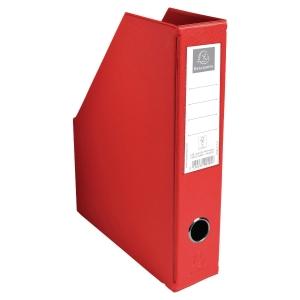 Porte-revues pp pliable format A4 PVC 20/10eme Exacompta 7cm rouge