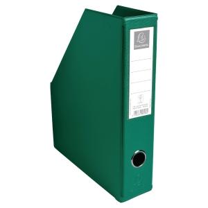 PORTE-REVUES PP PLIABLE FORMAT A4 PVC 20/10EME EXACOMPTA 7CM VERT