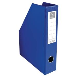 PORTE-REVUES PVC PLIABLE FORMAT A4 PVC 20/10EME EXACOMPTA 7CM BLEU